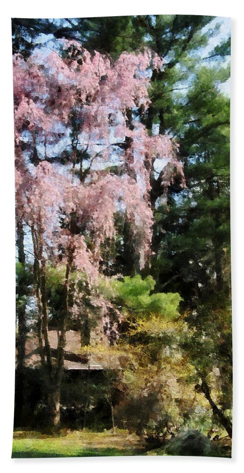 Spring Beach Towel featuring the photograph Weeping Cherry by Susan Savad