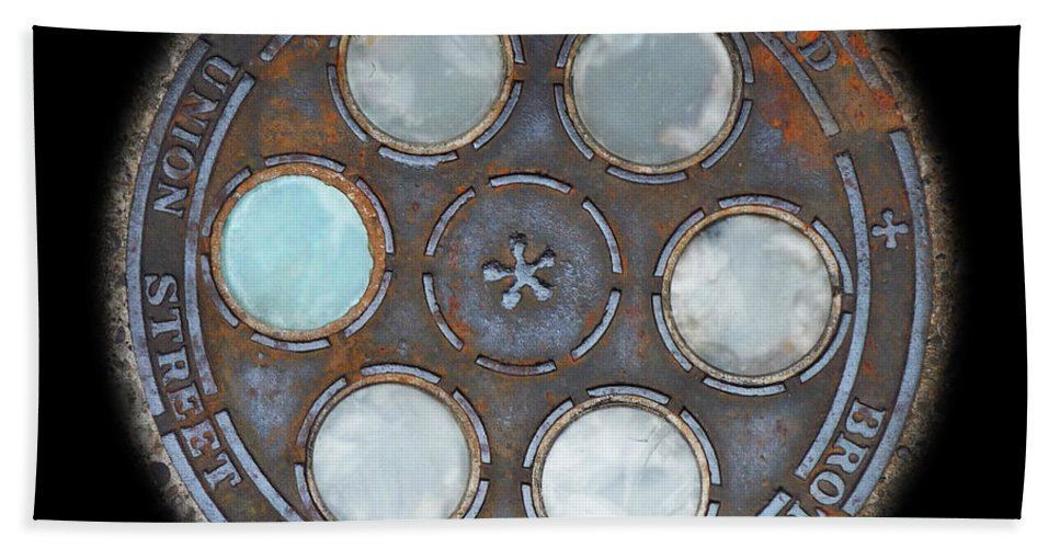 Circle Beach Towel featuring the photograph Wheel by Charles Stuart