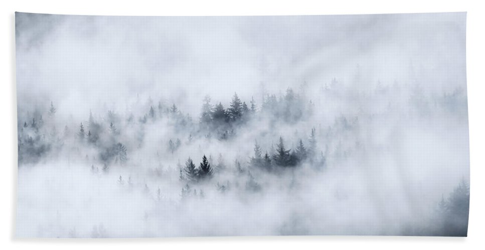 Fog Beach Towel featuring the photograph Winter Dawning by Mike Dawson