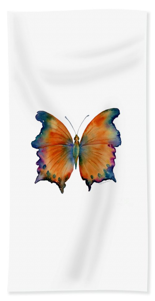 Wizard Butterfly Beach Towel featuring the painting 1 Wizard Butterfly by Amy Kirkpatrick