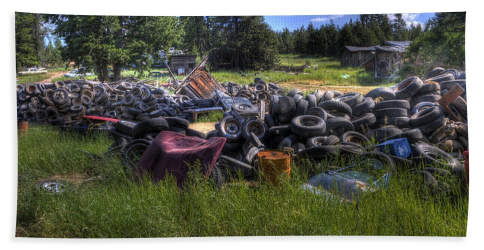 Automotive Beach Towel featuring the photograph Wrecking Yard Study 9 by Lee Santa