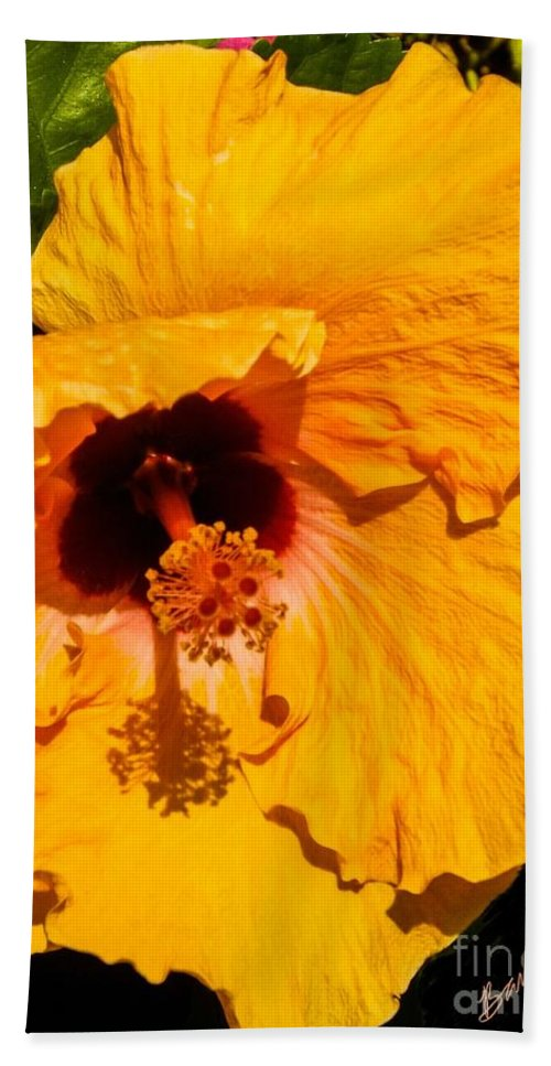 Flower Beach Towel featuring the photograph Yellow Flowers by Barbara Pond