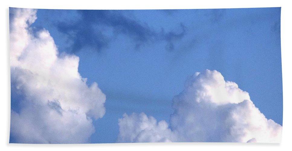 Landscape Beach Towel featuring the digital art SKY by Erin Schuettler