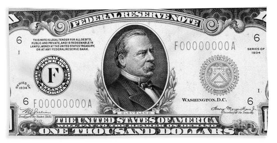 1,000 Dollar Bill Beach Towel