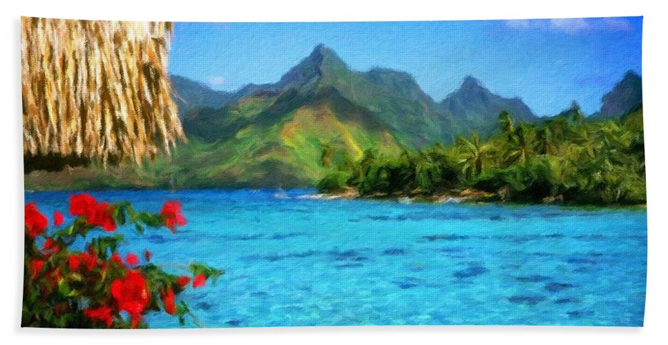 Landscape Beach Towel featuring the digital art Landscape Paintings by Malinda Spaulding