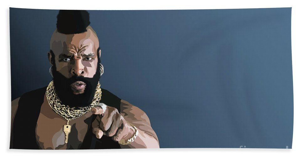 Mr T Beach Towel featuring the digital art 107. Pity The Fool by Tam Hazlewood