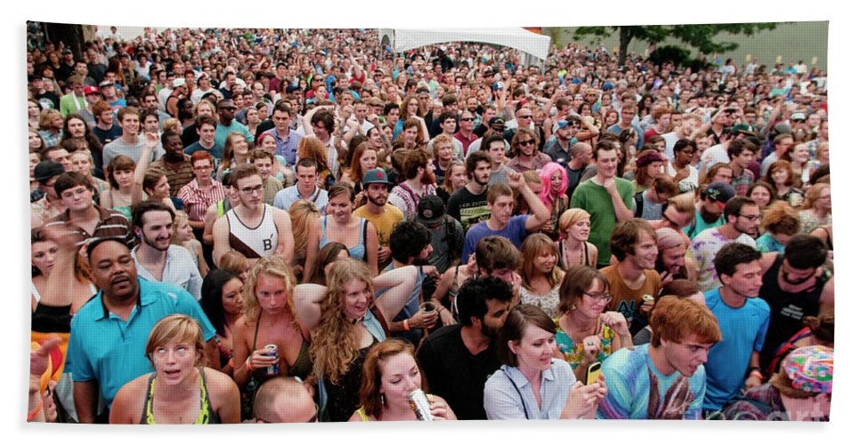 Asheville Beach Towel featuring the photograph Bele Chere Festival by David Oppenheimer