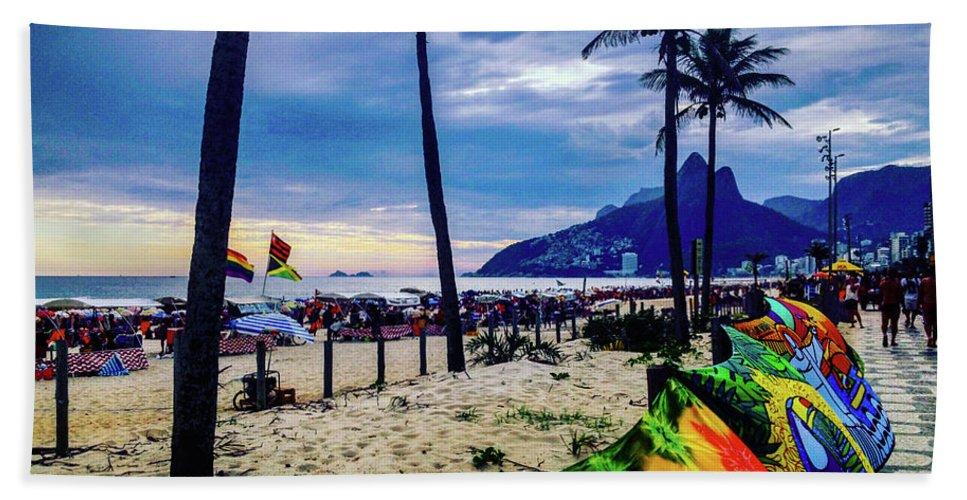 Ipanema Beach Towel featuring the photograph Ipanema Beach by Cesar Vieira