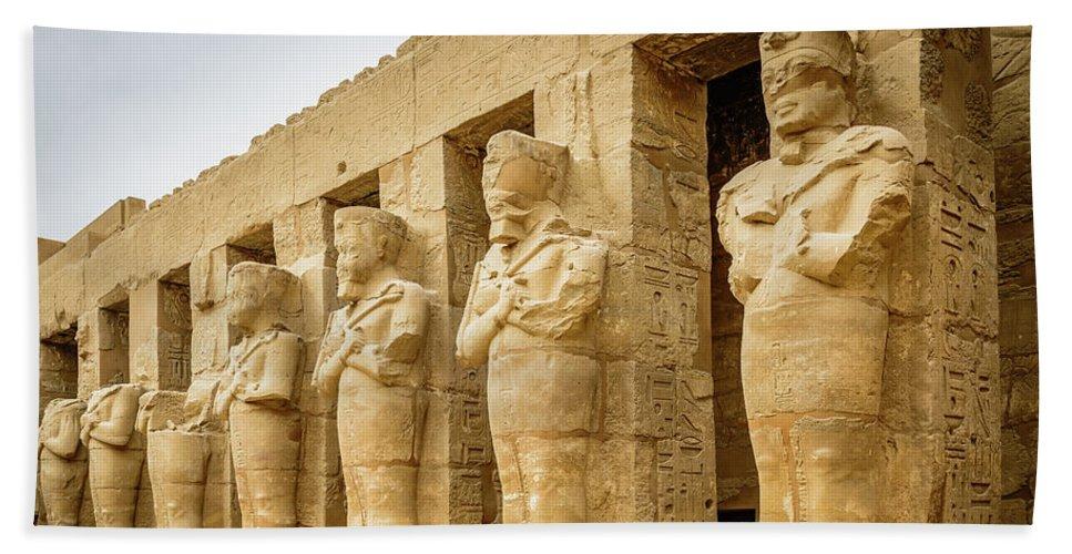 Karnak Temple Luxor Egypt Beach Towel For Sale By Jon Berghoff