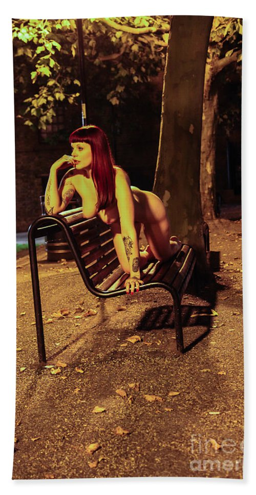 Fine Art Nude Beach Towel featuring the photograph Shay Hendrix by Nocturnal Girls