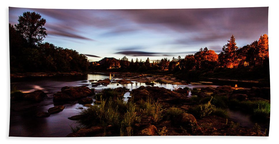 Beach Towel featuring the photograph Elkton River by Angus Hooper Iii