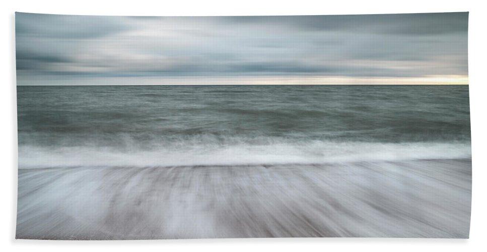 Burton Bradstock Beach Towel featuring the photograph Beautiful Vibrant Sunset Landscape Image Of Burton Bradstock Gol by Matthew Gibson