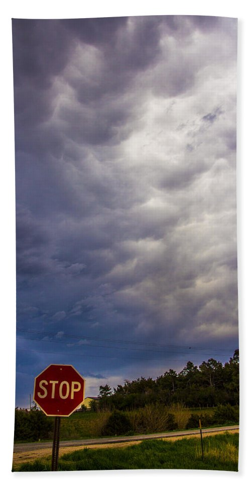 Nebraskasc Beach Towel featuring the photograph May Nebraska Storm Cells by NebraskaSC