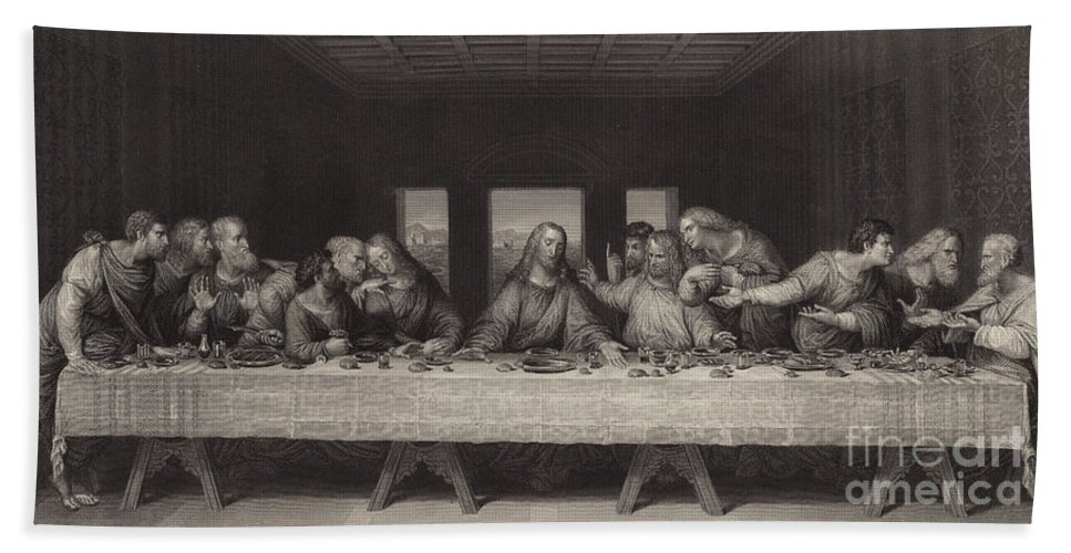 The Last Supper Beach Sheet For Sale By Leonardo Da Vinci