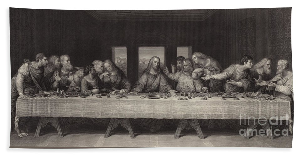 The Last Supper Beach Sheet For Sale By Leonardo Da Vinci