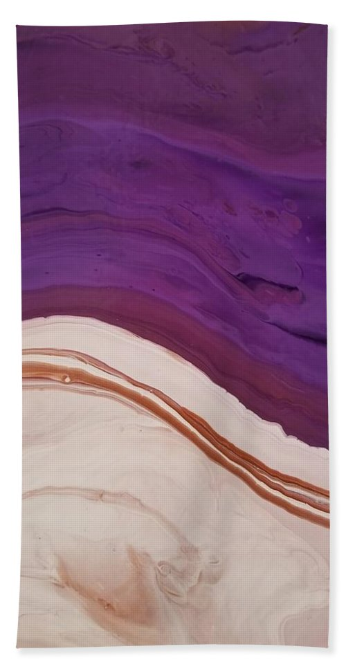 Abstract Beach Towel featuring the painting 14840 by Paulina Roybal