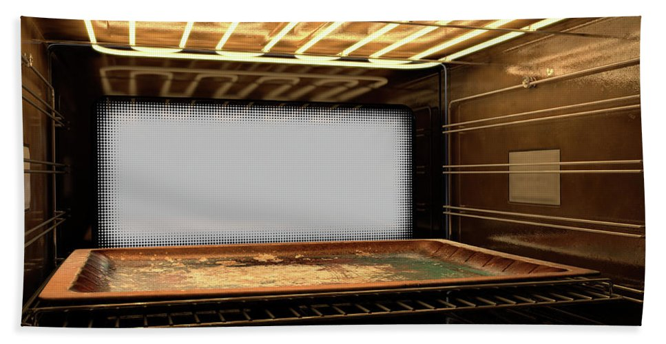 Oven Beach Towel featuring the digital art Inside The Oven by Allan Swart