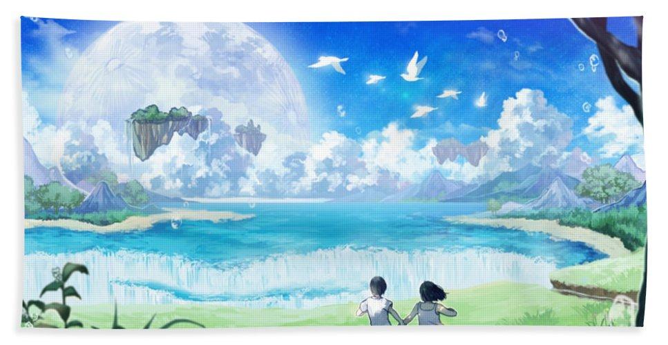 Original Beach Towel featuring the digital art Original by Zia Low