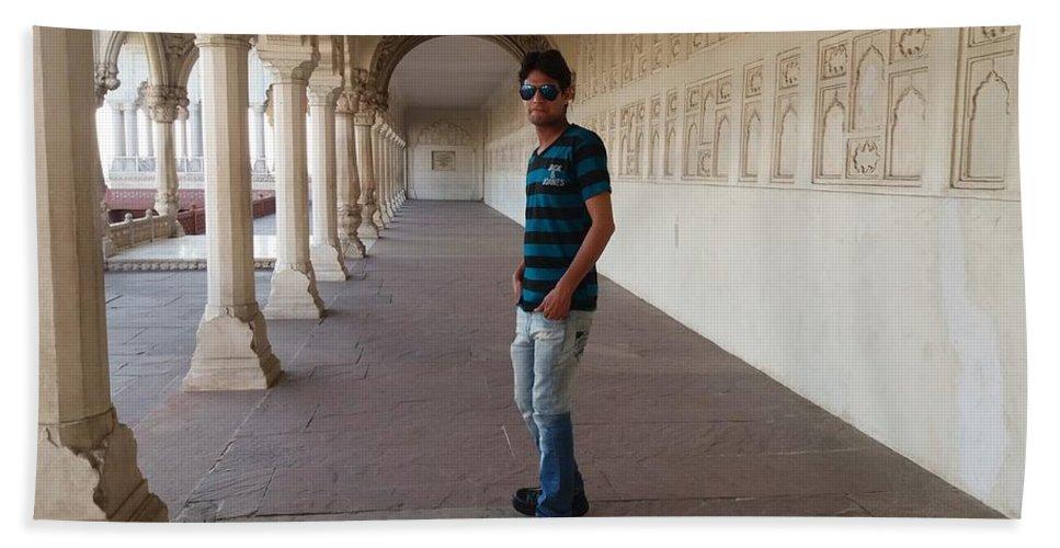 Harpal Singh Jadon Beach Towel featuring the photograph Harpal Singh Jadon by Harpal Singh jadon Jadon