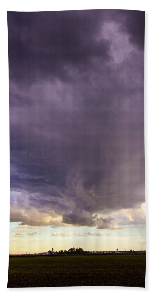 Nebraskasc Beach Towel featuring the photograph Afternoon Nebraska Thunderstorm by Dale Kaminski