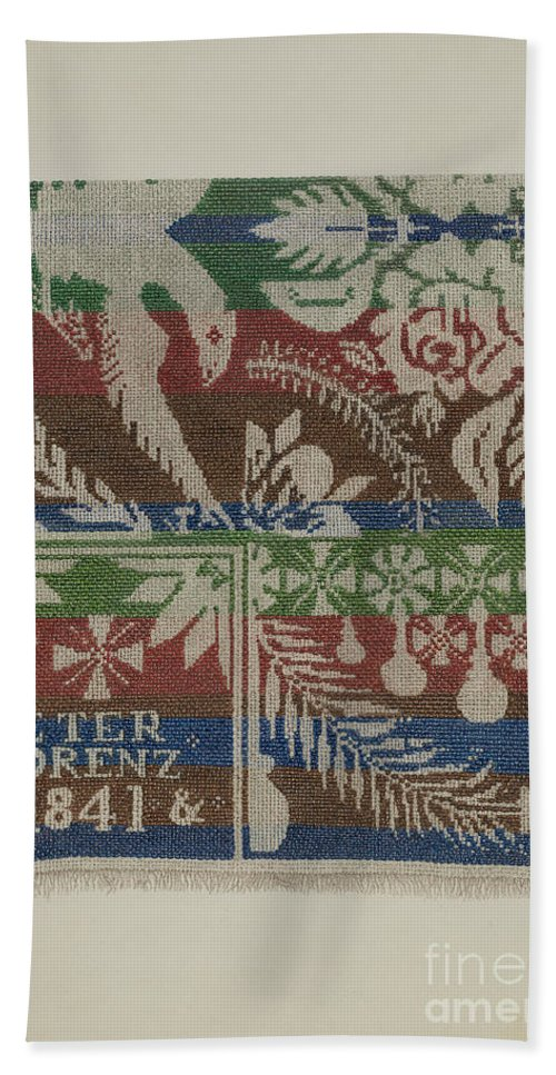 Beach Towel featuring the drawing Coverlet by Cornelius Christoffels