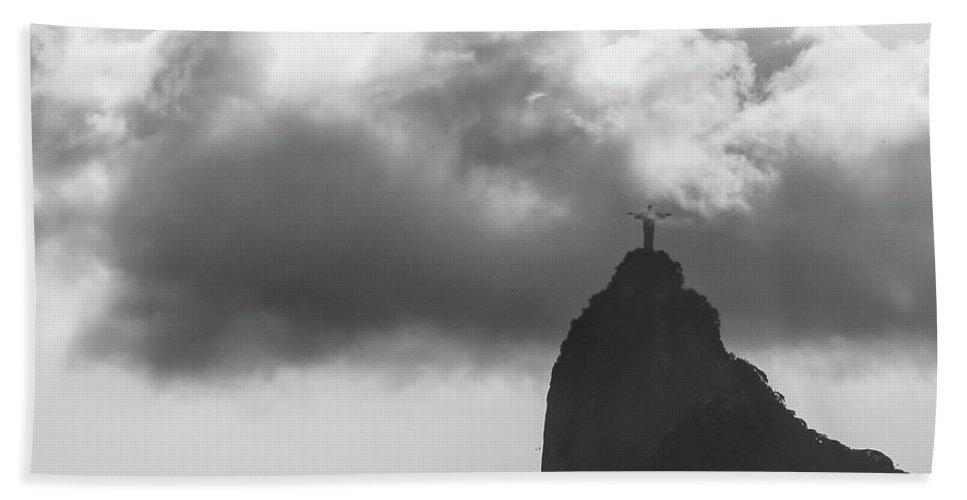 Ipanema Beach Beach Towel featuring the photograph Cristo Redentor by Cesar Vieira