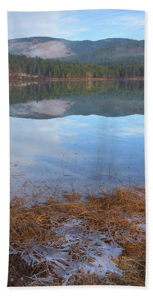 Seasonal Beach Towel featuring the photograph Palsko Lake by Ian Middleton