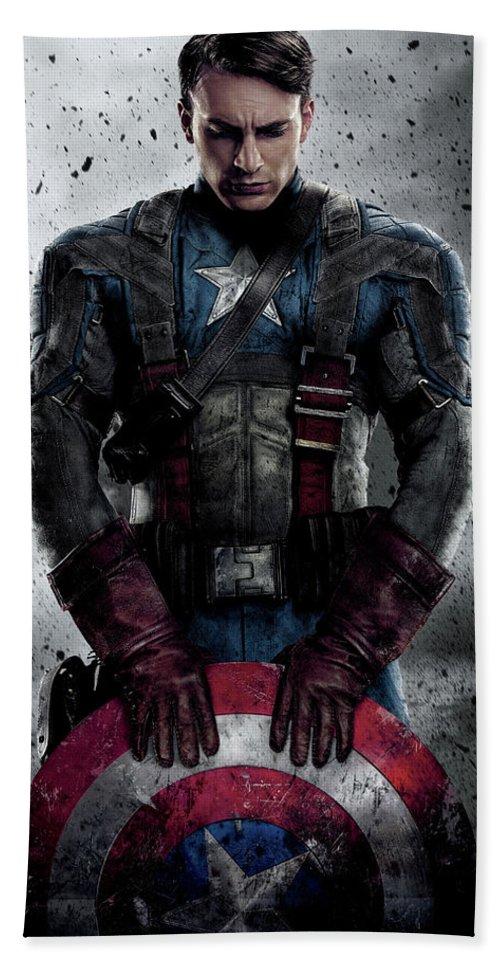 Captain America Beach Towel featuring the digital art Captain America Civil War 2016 by Geek N Rock