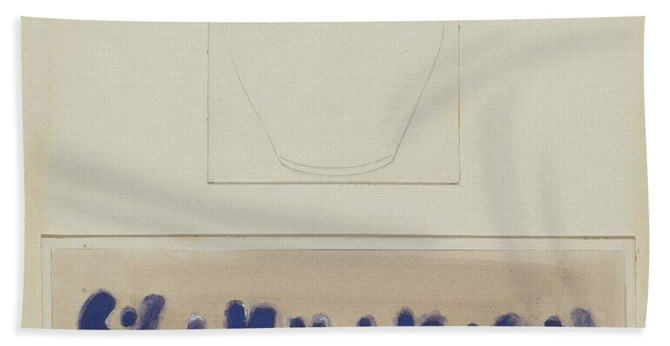 Beach Towel featuring the drawing Crock by Yolande Delasser