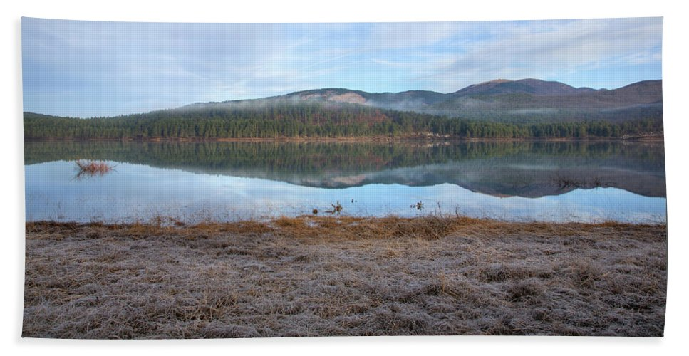 Seasonal Beach Towel featuring the photograph Palsko Lake by Ian Middleton