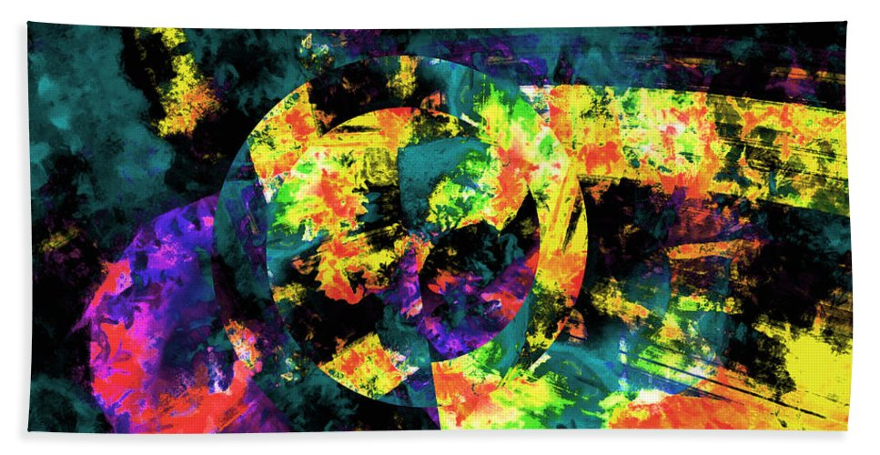 Abstract Urban Art Beach Towel featuring the digital art Abstract by Galeria Trompiz