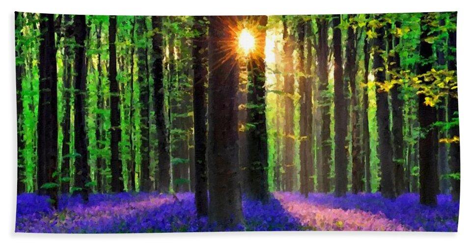 Set Beach Towel featuring the digital art Natural Landscape by Malinda Spaulding
