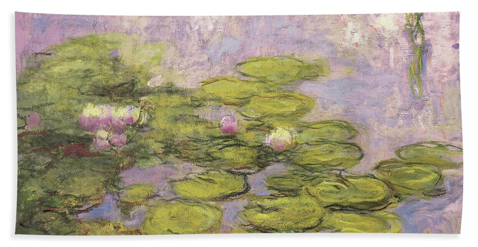 Monet Beach Towel featuring the painting Nympheas by Claude Monet
