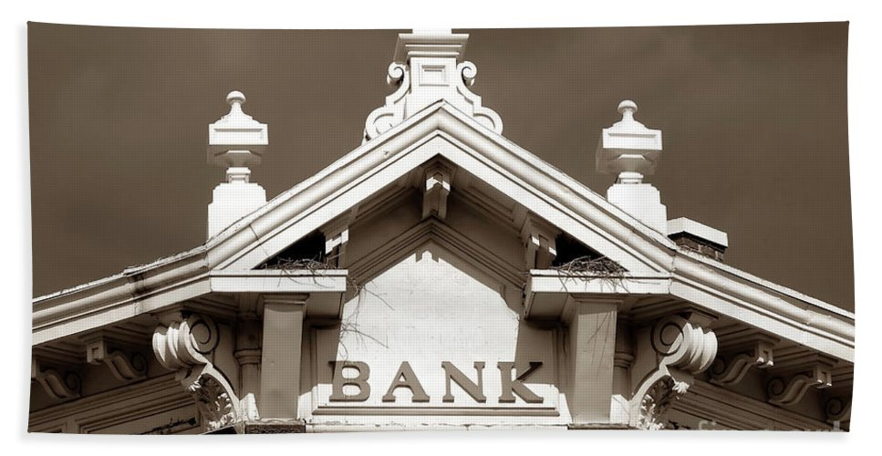 Fine Art Photography Beach Towel featuring the photograph 1880 Bank by David Lee Thompson