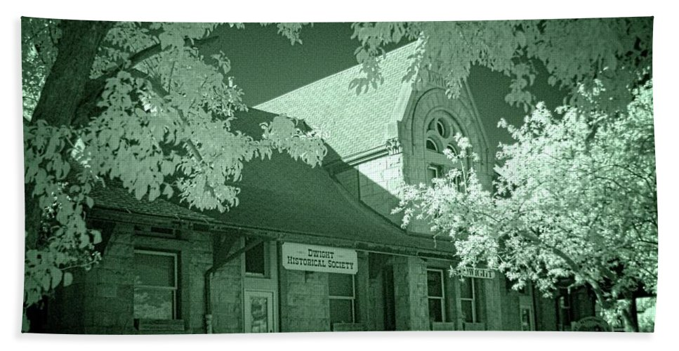 Dwight Beach Towel featuring the photograph 1891 Railroad Depot 2 by Fred Hahn
