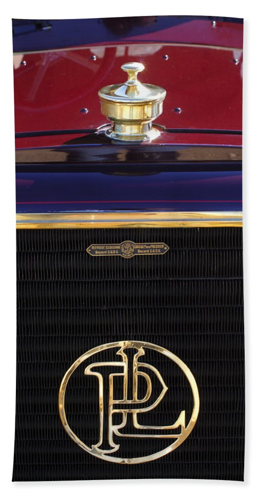 1907 Panhard Et Levassor Beach Towel featuring the photograph 1907 Panhard Et Levassor Hood Ornament 2 by Jill Reger