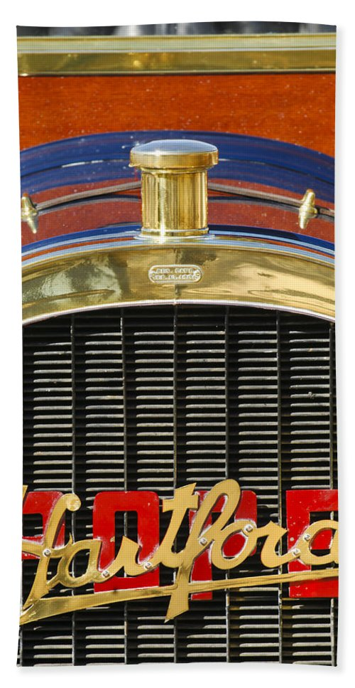 1910 Pope Hartford T Beach Towel featuring the photograph 1910 Pope Hartford T Hood Ornament by Jill Reger