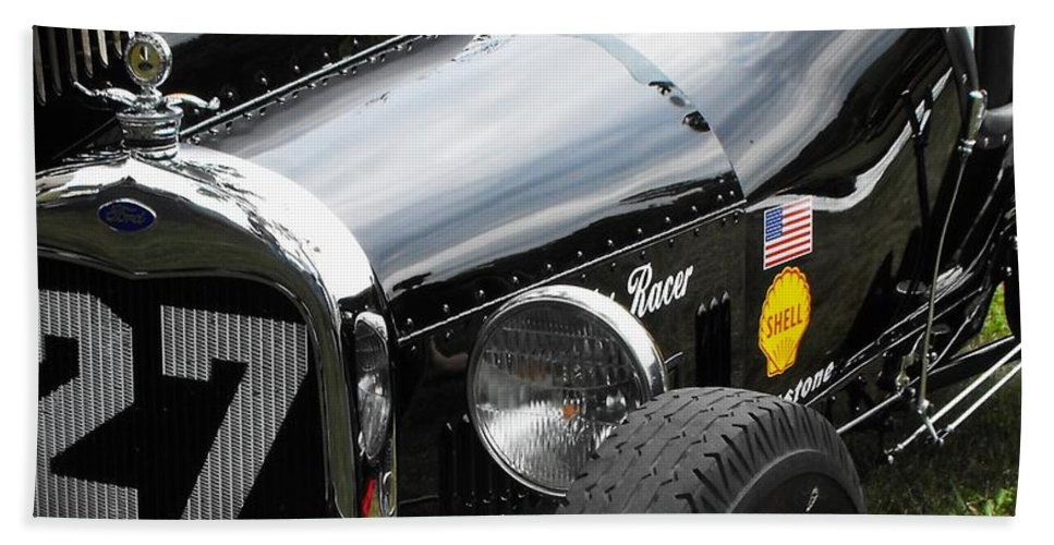 Ford Beach Towel featuring the photograph 1920-1930 Ford Racer by Neil Zimmerman