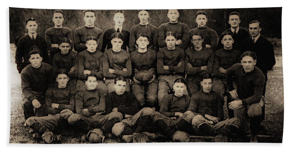 Football Beach Towel featuring the photograph 1921 Royal Cc Football Champions by Bill Cannon