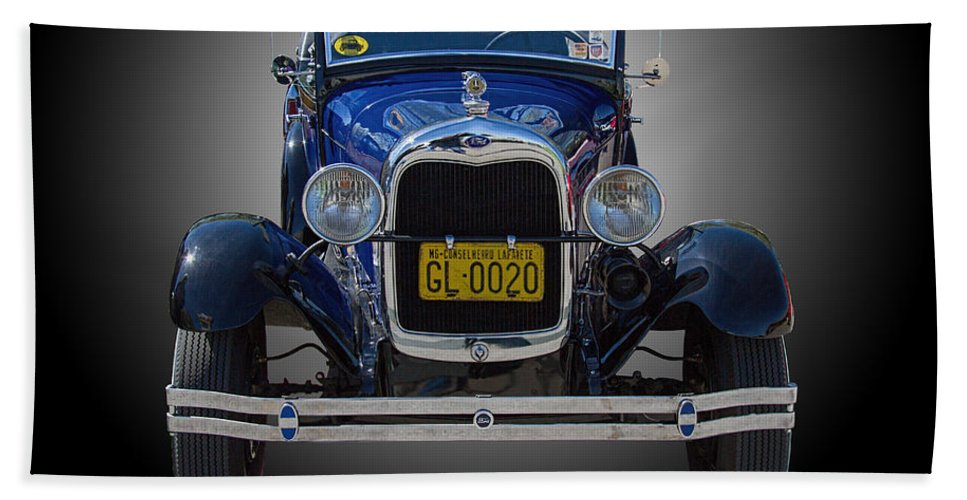 1929 Beach Towel featuring the photograph 1929 Model A Ford Convertible by Nick Gray