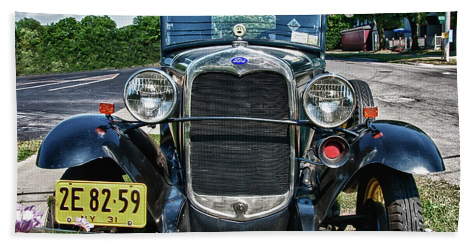 1931 Ford Beach Towel featuring the photograph 1931 Ford 7374 by Guy Whiteley