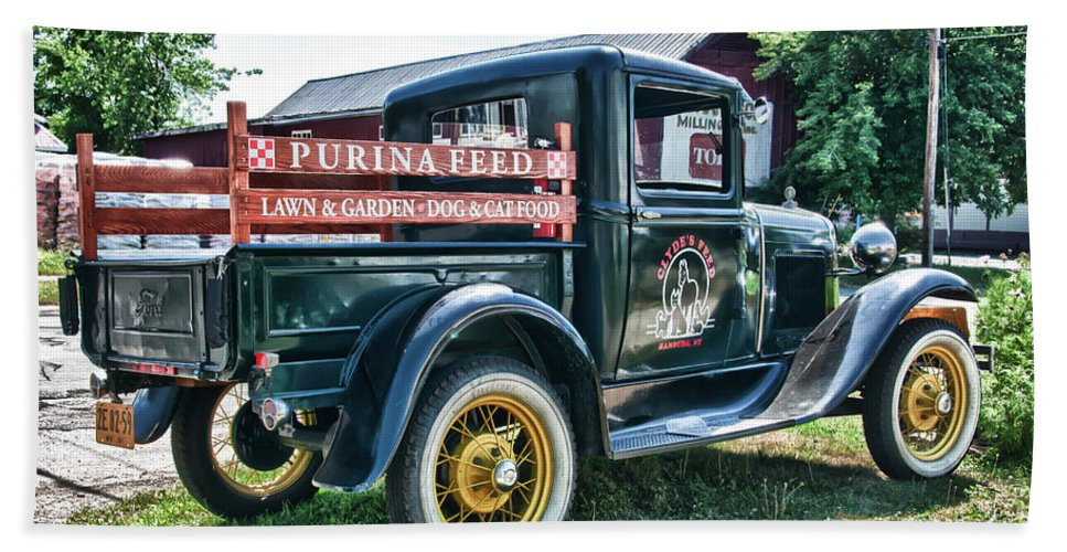 1931 Ford Beach Towel featuring the photograph 1931 Ford Truck by Guy Whiteley