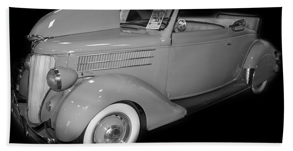 Ford Beach Towel featuring the digital art 1936 Ford Rumble Seat Cabriolet by Tim Mulina