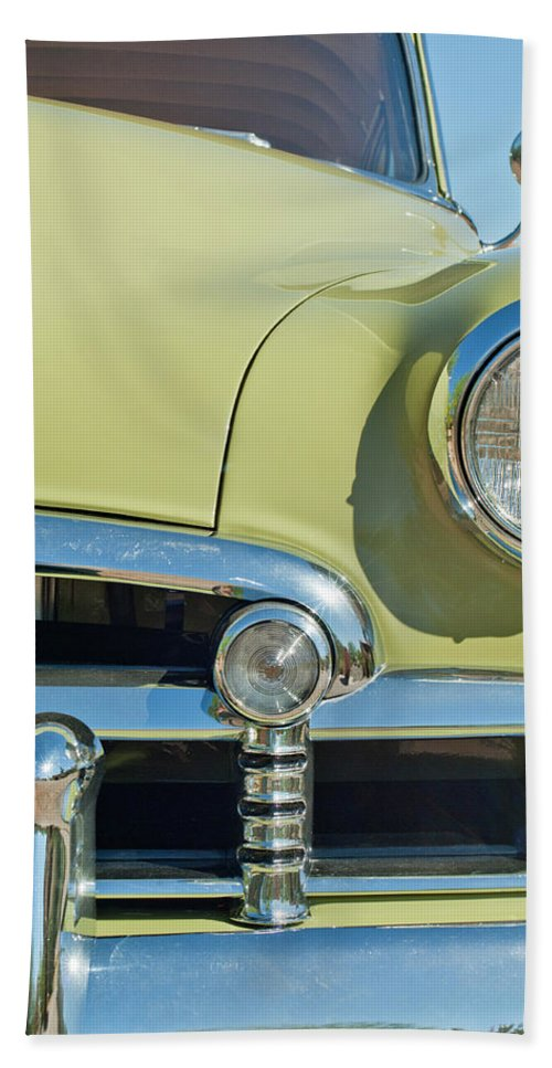 1950 Chevrolet Beach Towel featuring the photograph 1950 Chevrolet Fleetline Grille by Jill Reger