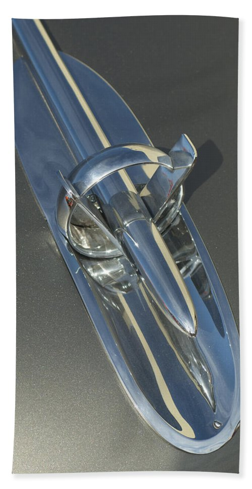 1953 Buick Beach Towel featuring the photograph 1953 Buick Hood Ornament by Jill Reger