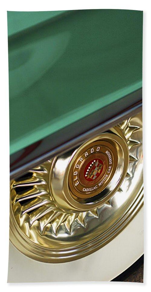 1956 Cadillac Eldorado Beach Towel featuring the photograph 1956 Cadillac Eldorado Tire by Jill Reger