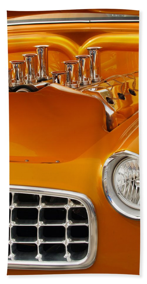 Transportation Beach Towel featuring the photograph 1956 Chrysler Custom 2 Door Sport Wagon by Jill Reger