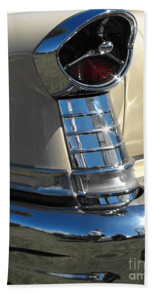 Oldsmobile Beach Towel featuring the photograph 1957 Oldsmobile Super 88 by Neil Zimmerman