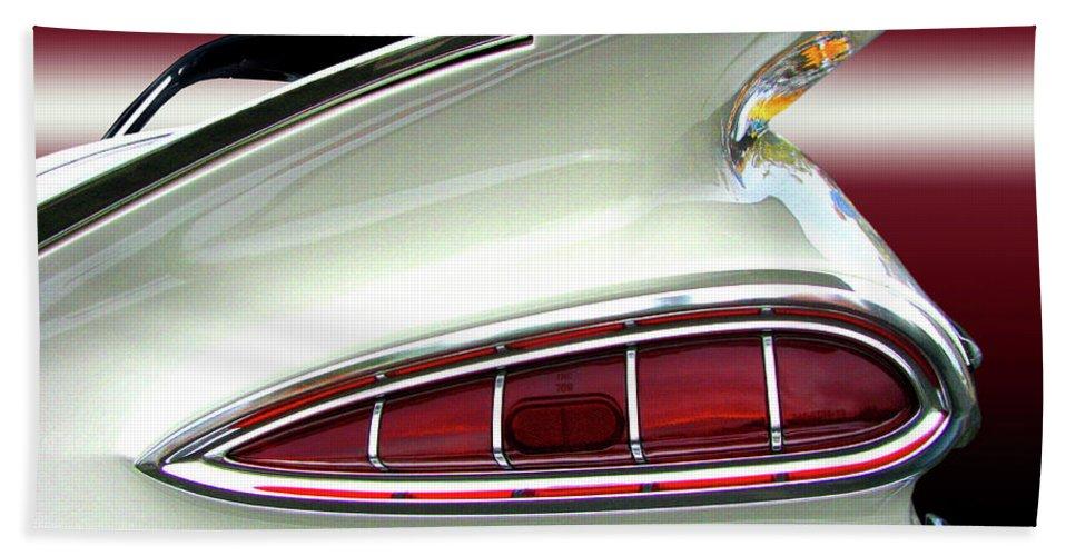 Transportation Beach Towel featuring the photograph 1959 Chevrolet Impala Tail by Peter Piatt