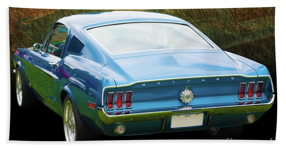Ford Beach Towel featuring the photograph 1967 Mustang by Stuart Row